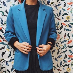 SILENCE + NOISE blue blazer